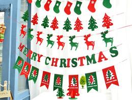 Armadura usada en Línea-5 Estilos Uso repetido 240cm / 290cm Tela Merry Christmas Banderas Inicio Tienda X-mas No Tejidos Interior Techo Colgante Decoración Banderas