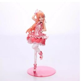 Wholesale Sword art online Glittery Asuna PVC Action Figure Collection Model Toy good collection model EMS shipping