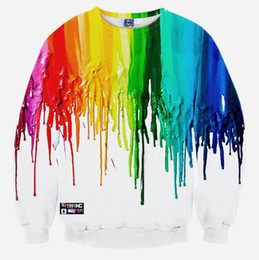 Wholesale And The Wind of Original D Head Pro Hoody Autumn Rainbow Ink Couples Dress Autumn Sweater Coat Collar