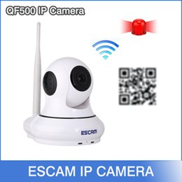 Wholesale NEWEST Original ESCAM QF500 P2P P HD Mega Pan Tilt WIFI Alarm System Mini Security CCTV Indoor IP Camera