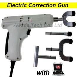 Wholesale 110 V original Heads adjustable intensity Therapy Chiropractic Adjusting Instrument Electric Correction Gun Activator Massager