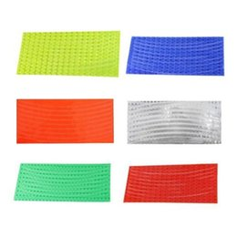 Wholesale Fluorescent MTB Road Mountain Bike Bicycle Cycling Wheel Tire Rim Reflective Stickers Durable