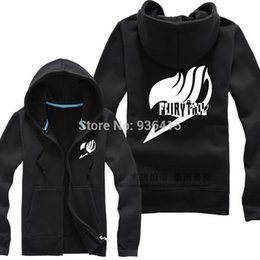 Wholesale-Free Shipping New Anime FAIRY TAIL Clothing Hooded Sweatshirt Cosplay Guild Logo Hoodie Costume