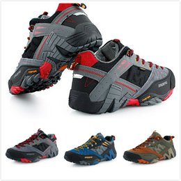 Wholesale Mens Waterproof Genuine Leather Hiking Shoes Anti collision Toe Shoes Men Trail Outdoor Walking Shoes Climbing sapatos masculinos