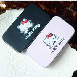 Hello Kitty Make Up Cosmetic Brush Kit Makeup Brushes Pink Iron Case Toiletry Beauty Appliances 7pcs set 240sets