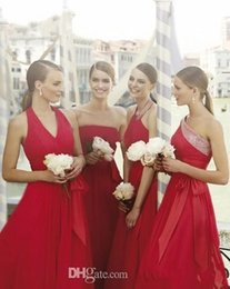 Wholesale Long Strapless Tight Dress - 2016 Rose Birdesmaid Dresses Tight Pleats Elgant Bow Knot Tulle Long Gowns All Size Wedding Party Dress Custon Have Made Bridesmaid Empire