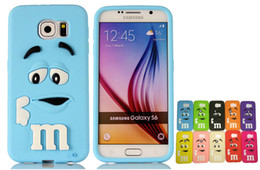 Wholesale Cartoon Casing Galaxy Grand - for Galaxy s6 3D Cartoon M Rainbow Bean Smile Soft Silicone Case Cover for Samsung Galaxy A3 A5 A7 E5 E7 Trend3 Grand Prime Grand Core Prime