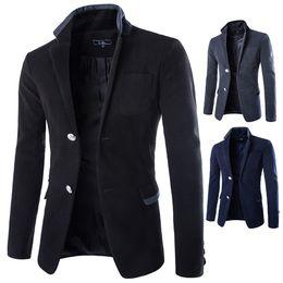 2015 new arrival mens suit blazer autumn and winter hit color striped men's casual suit jacket Korean version blazer for men