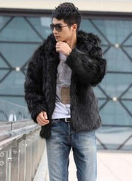 Male singer in Europe and the nightclub runway looks long fox fur coat in han edition fur hooded costumes. S - 3 xl