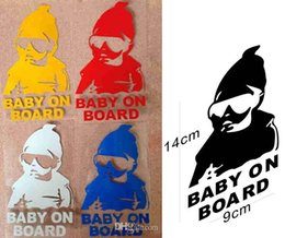 Wholesale Car Sticker Cool Baby on Board Car Styling Auto Motorcycle Sticker Vinyl Decal Reflective Personalized Waterproof baby in car light refect