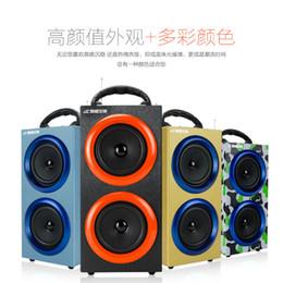 2017 boîte de haut-parleur de radio Grande Taille 145x120x295mm Bluetooth HIFI subwoofer grande puissance extérieure Radio FM stéréo USB Amplificateur Sound Box boîte de haut-parleur de radio sortie