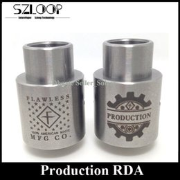 Wholesale Best Production RDA Wide Bore Drip Tip mm Rebuidable Atomizer Clone Peek Insulator Thread DIY Post vs Tugboat by Flawless MFG