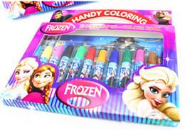 Wholesale Hot Sale Frozen Suits Watercolor Pen P Colouring Pictures P Color Stickers Set Kids Gift Presents Children Puzzle Painting