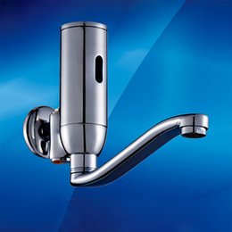 Wholesale wall mounted hands free faucet mixer medical automatic washer touchless faucet spout for clinic room