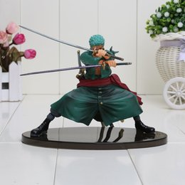 Wholesale Cool Roronoa Zoro One Piece Animation Model P O P cm PVC Action Figure Beautiful Color Box