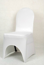 Wholesale Hot sell Fashion Thicken Elasticity White Chair Covers Wedding Meeting Seat Covers