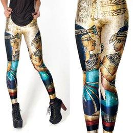 Купить Онлайн Племенные печатные издания-2PCS Роскошные племенные женщины Legging Леггинсы женские Jeggings женские брюки легинсы Sexy Legging Брюки Legins Sexy отпечатанных поножи 41