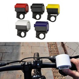 Wholesale Ultra loud MTB Road Bicycle Bike Electronic Bell Horn Cycling Hooter Siren Accessory Blue Yellow Black Red White Y0035