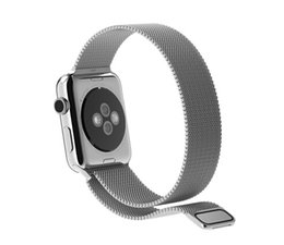 Wholesale 1 Original Design Magnetic Milanese Loop Watch Band For Apple Watch iWatch Strap Metal Woven Stainless Steel Mesh Connector Adapters