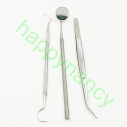Wholesale SET New Dental Tool Set Kit Dentist Mirror Teeth Clean Pick Inspection Mirror