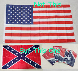 STOCK 90x150cm American Flag 100% Polyester South North War Flag Confederate Battle Flags USA Confederate Rebel Flag