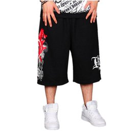Wholesale-Hot sale hip hop Men shorts casual loose oversize basketball skateboard men's sport shorts boy jogger printing shorts