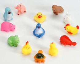cute Animal Bath Toy Bath Washing Sets Children Education Toys Rubber Yellow Ducks Children Swiming Gifts 390pc lot