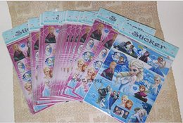 Wholesale 2015 New design Frozen Anna Elsa A4 size sticker Removable PVC sticker for kids best gift for children
