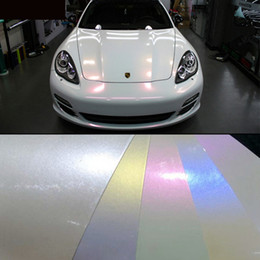 Wholesale 2015 hot sale x20m x65 glossy finish pearl white chameleon vinyl film air bubble free for vehicle full wraps colors