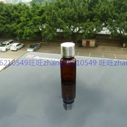10ml brown amber Glass Essential Oil Bottle With shiny silver aluminum cap. Oil vial, Essential Oil Container