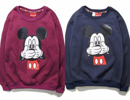 2015 fall and winter clothes for men and women of Hong Kong Disneyland Mickey Mouse cartoon printing hedging sweater lovers