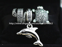 DIY Jewelry Sets 925 Sterling Silver Core Charm and Murano Glass Bead Set Fits European Pandora Jewelry Charm Bracelets & Necklaces-HJ001