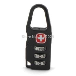 Wholesale Alloy Padlocks Swiss Cross Travel Luggage Zipper Handbag Code Digital Lock Suitcase Backpack Bag Accessories