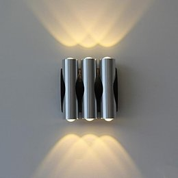 Wall Sconce,Aluminium Acrylic 6W Modern Led Wall Light Lamp With 6 Lights For Home Lighting Free Shipping