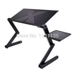 Wholesale 360 Degree Adjustable Foldable Laptop Notebook PC Desk Table Vented Stand Bed Sofa Tray