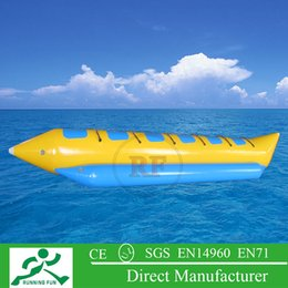 Wholesale colorful mm pvc tarpaupin material inflatable towable banana boat with one free ce or ul air pump for water games