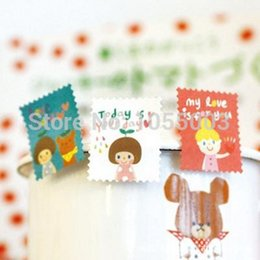 Wholesale DIY Scrapbooking Okey Tina Paper Stamps Stickers Decoration Sticker