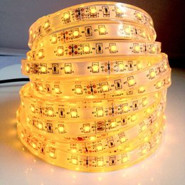 Wholesale Silicon Tube Led Strip Lighting - SMD3528 IP68 waterproof LED strip light LED flexible strip DC12V SMD3528 60 led   M IP68 silicon tube Aquarium lights free shipping