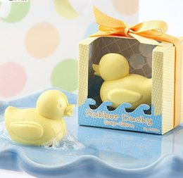 Wholesale Little Cute Duck shape handmade Scented soap wedding Baby Shower gift scented decorative soaps For Wedding birthday