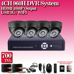 Home security camera system 4CH HDMI 1080p DVR Night Vision IR 700TVL Camera HD CCTV Security Cameras System QR
