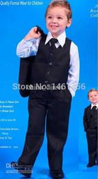 Gros-gros - Boy Groom Tuxedos Veste + Pantalon + Tie / Bow Tie + + chemises Vest Costumes de mariage Costume Dress 5 pièces exposées à partir de chemises habillées ensemble cravate fabricateur