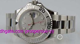 Wholesale Luxury Watch MM STEEL PLATINUM FULL SIZE MENS quot K quot SERIAL WARRANTY Men s Watch Watches Wristwatch