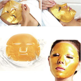 Wholesale Premium Golden Collagen Crystal Face Mask Anti Aging Whitening Moisturising Facial Skin Care Smoother Firmer Skin MZ015