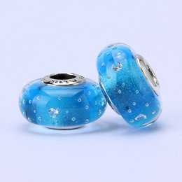 Wholesale 10pcs Pandora Style charm faceted murano glass beads loose beads thread bead beautiful beads jewelry T23