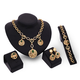 Wholesale Jewelry Set High Grade Alloy Earrings Necklace Bracelet Ring Wedding Jewelry Women Manufacture Custom Process