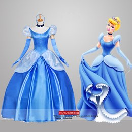 Fabrication de films en Ligne-Custom Made Fairy Tale Movie Cosplay Adulte Fantasy Princesse Cendrillon Robe Holloween Costume Party pour femme Ccarlett Vêtements