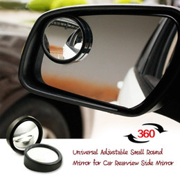 Wholesale Small Adjustable Mirrors - 360 Rotating Universal Essential Adjustable Car Rearview Mirror Small Round Mirror for Car Auto Rearview Side 1Pair Drop