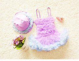 Summer New Arrival Girls Swimsuit Kids Suspender Chiffon Tulle Swimwear with Hat Cute Children Swimming Clothing