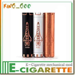 Wholesale Original Columbia Mod Mechanical vape Mod Ego Thread battery CE ROHS FCC Magnetic Switch Copper White Black