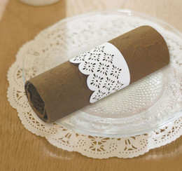 Wholesale NR1101 wedding favors paper cutting napkin rings towel napkin for restaurant hotel